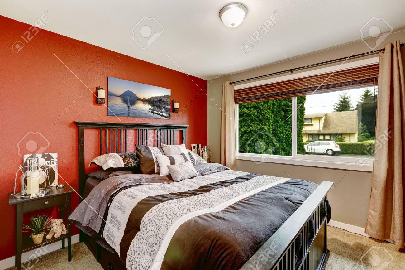 Schlafzimmer Rote Wand U2013 Menerima, Schlafzimmer Entwurf
