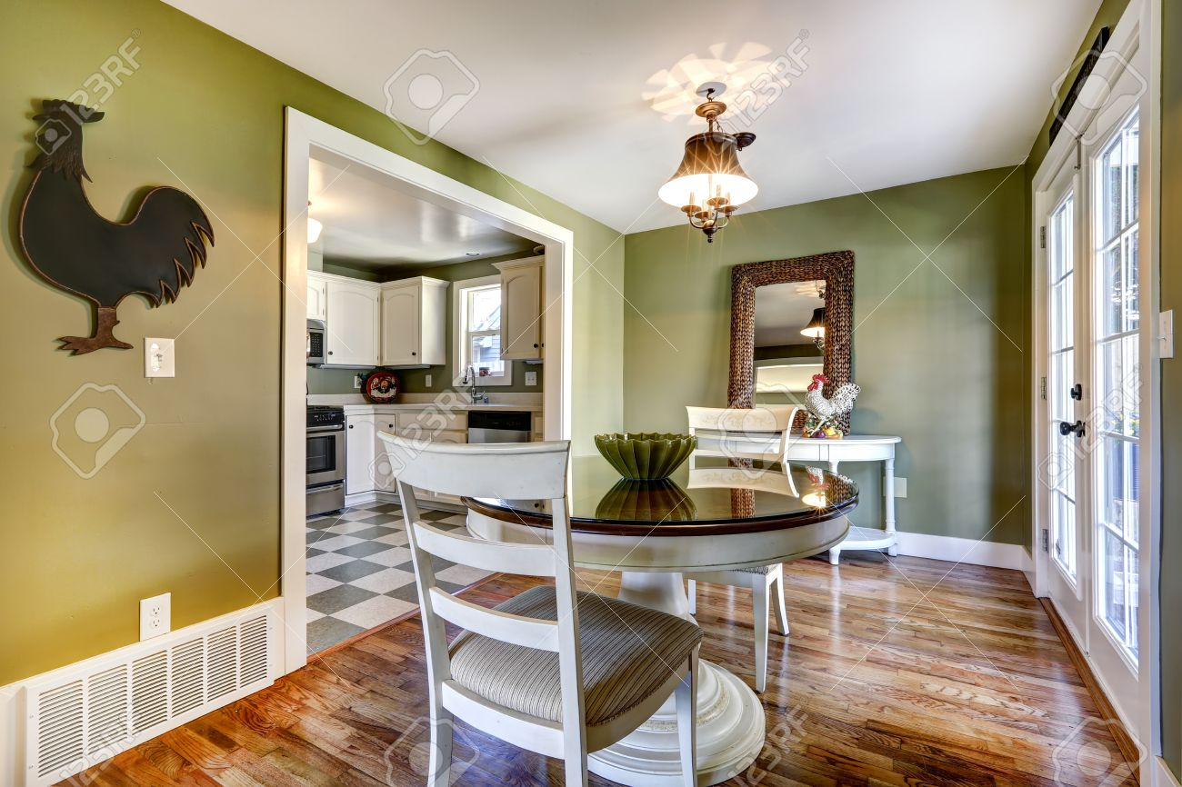Strange Dining Table Set In Room With Green Wall And White French Door Uwap Interior Chair Design Uwaporg
