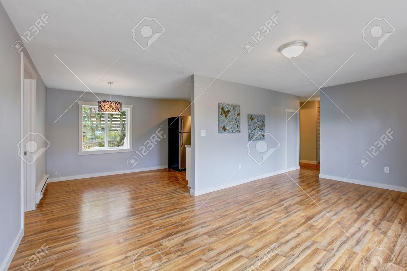 light blue walls living room. Empty house interior with light blue walls  hardwood floor and window Living room House Interior With Light Blue Walls Hardwood Floor And