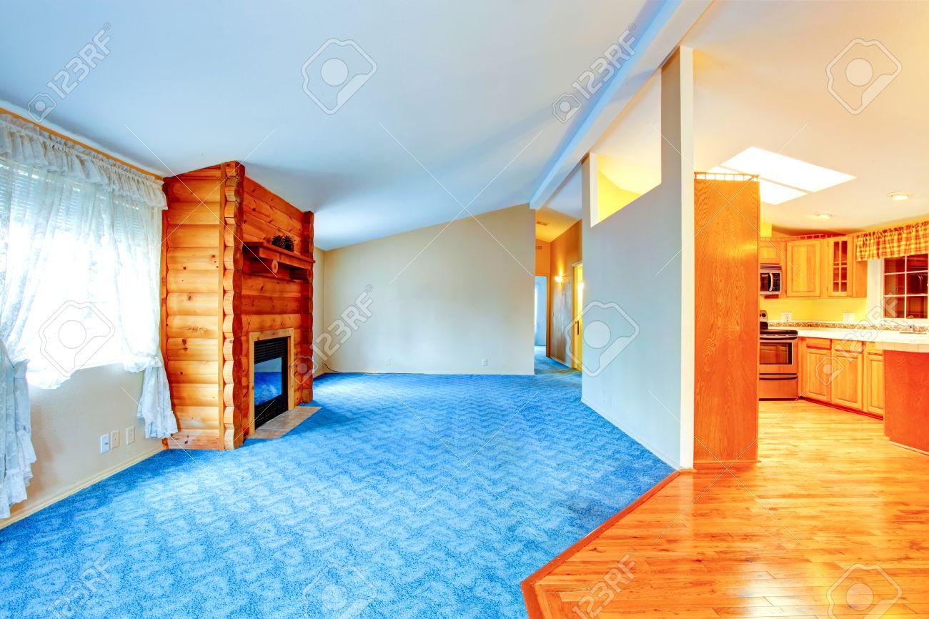 Land Haus Interieur Mit Kamin Haus Mit Offenem Grundriss Und