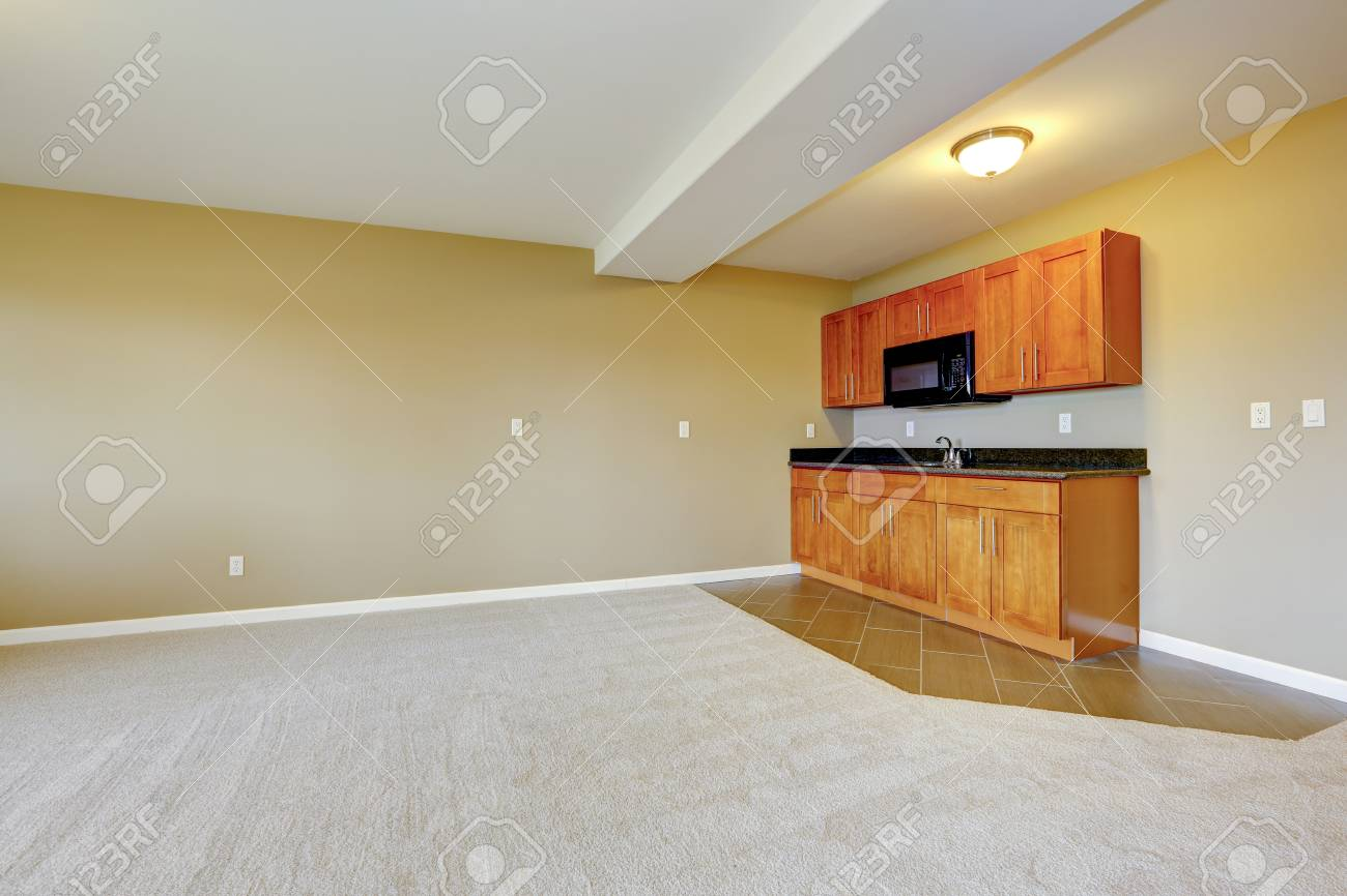 Spacious Dining Area With Kitchen Cabinets Room Two Type Floor