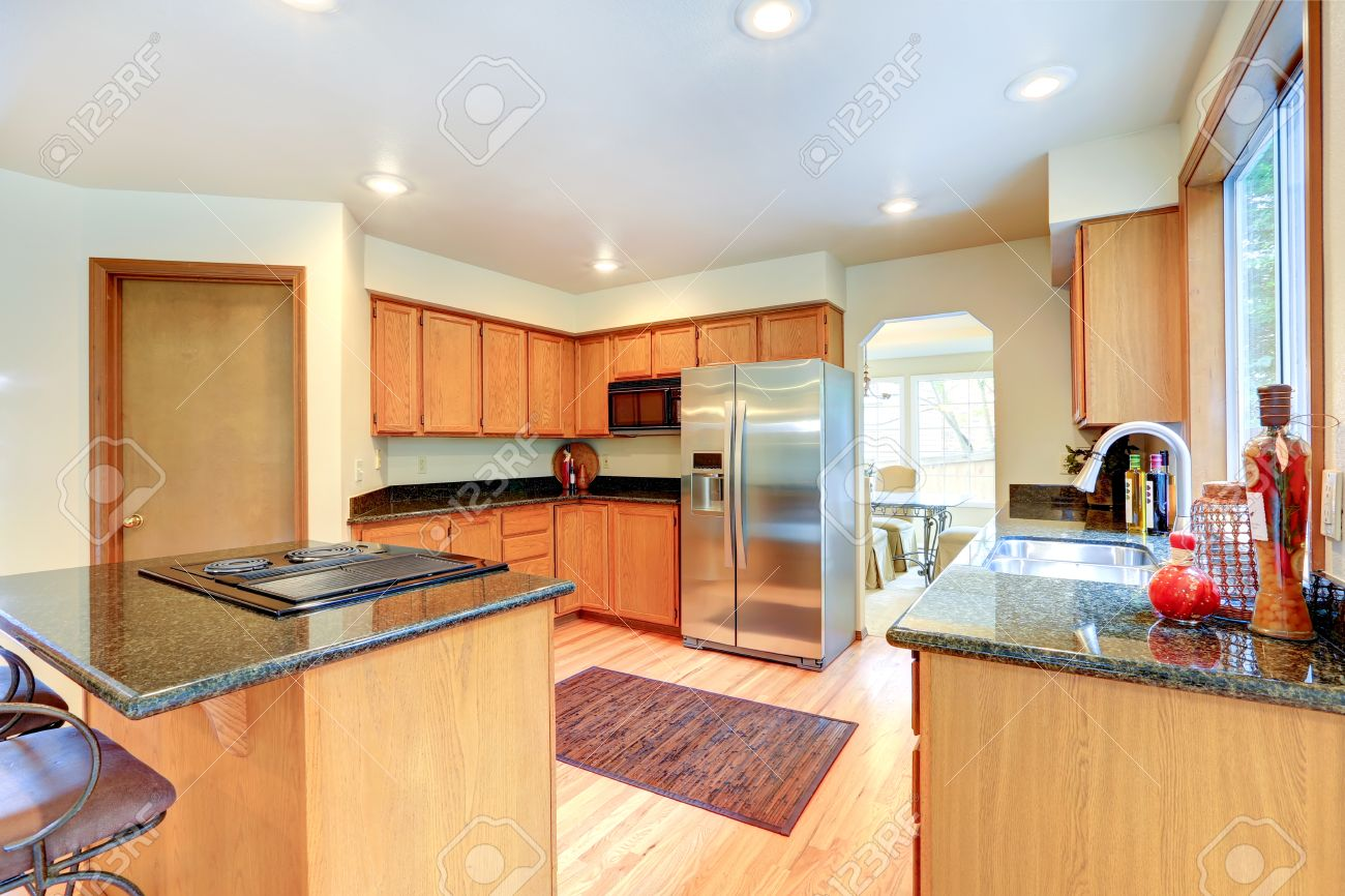 Kitchen Cabinets With Black Granite Top Kitchen Island With