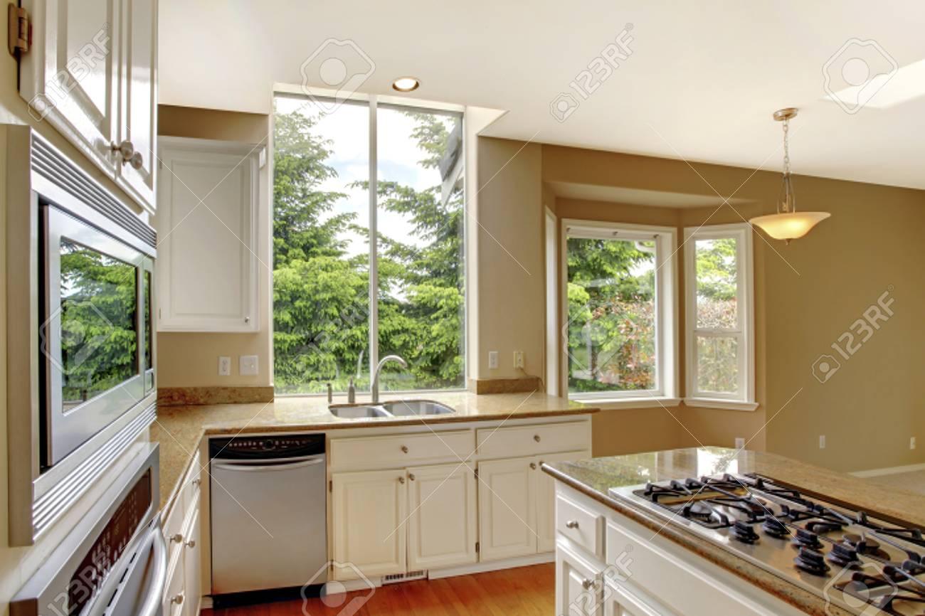 Kleine Klassische Amerikanische Küche Interieur Mit Granit Zähler ...