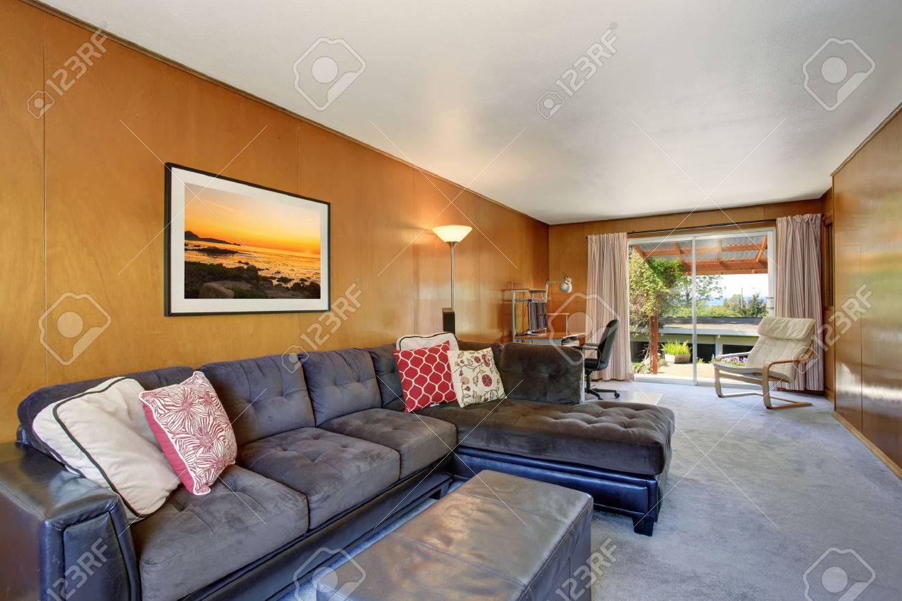 Pleasant Comfortable Sitting Area With Dark Gray Sofa Set And Colorful Spiritservingveterans Wood Chair Design Ideas Spiritservingveteransorg