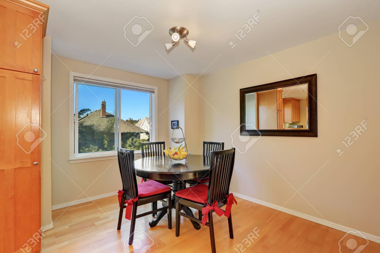 Interior Design Of Dining Room Black Table And Chair Set Vintage Stock Photo Picture And Royalty Free Image Image 61274533