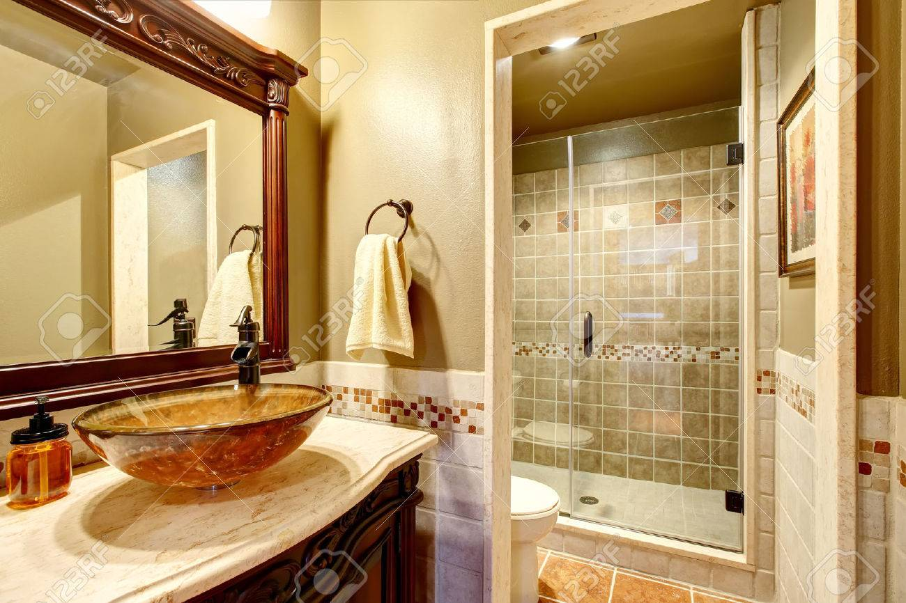 Bathroom Interior In Luxury House Rich Bathroom Vanity Cabinet