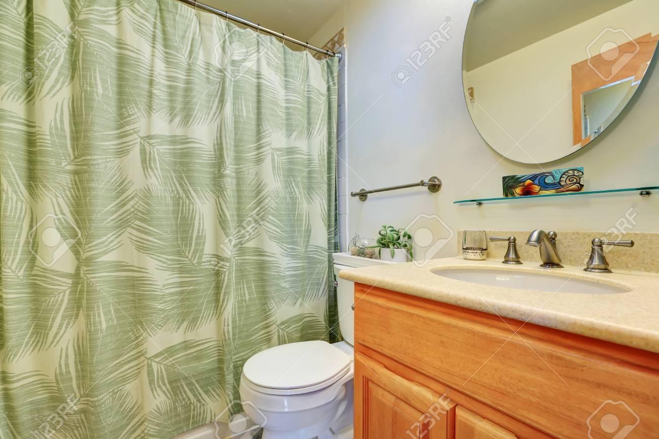 Intérieur Salle De Bains Avec Meuble Lavabo Toilettes Et Douche