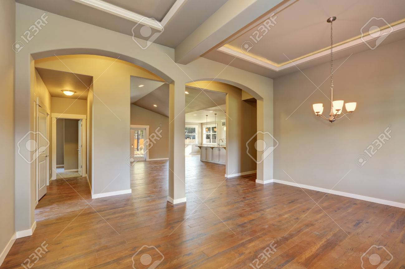 Awesome Entrance Hall Of Brand New House Empty Entryway With