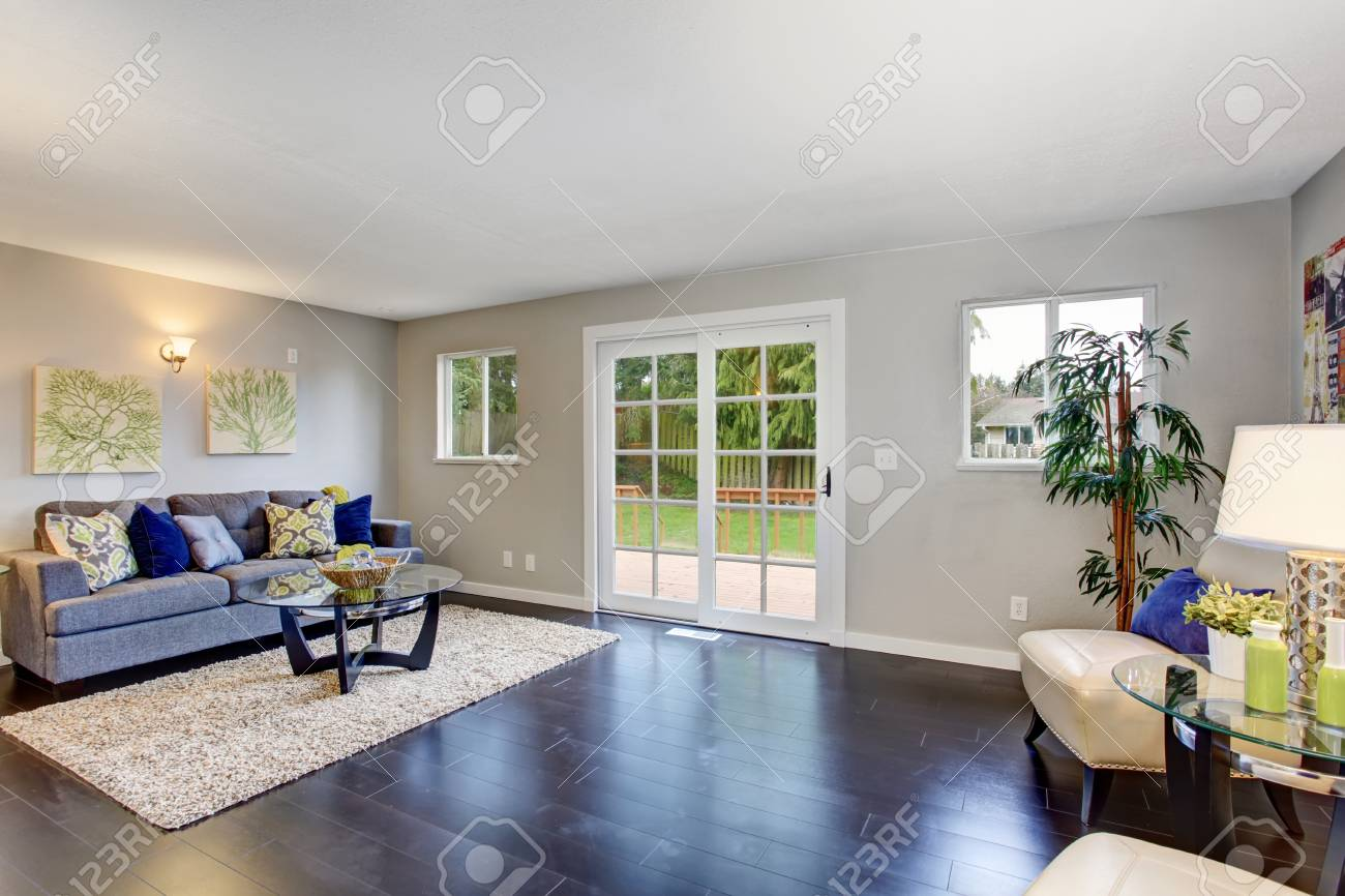 cozy living furniture. Cozy Living Room Interior With Hardwood Floor, Beige Rug And Modern  Furniture. Northwest, Cozy Furniture
