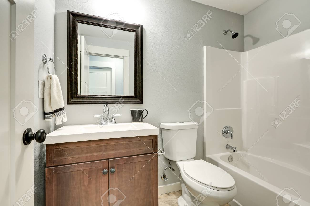 Compact Light Bathroom With Soft Gray Walls Highlighting A Brown Stock Photo Picture And Royalty Free Image Image 71769569,Ikea Malm Twin Bed With Drawers Instructions