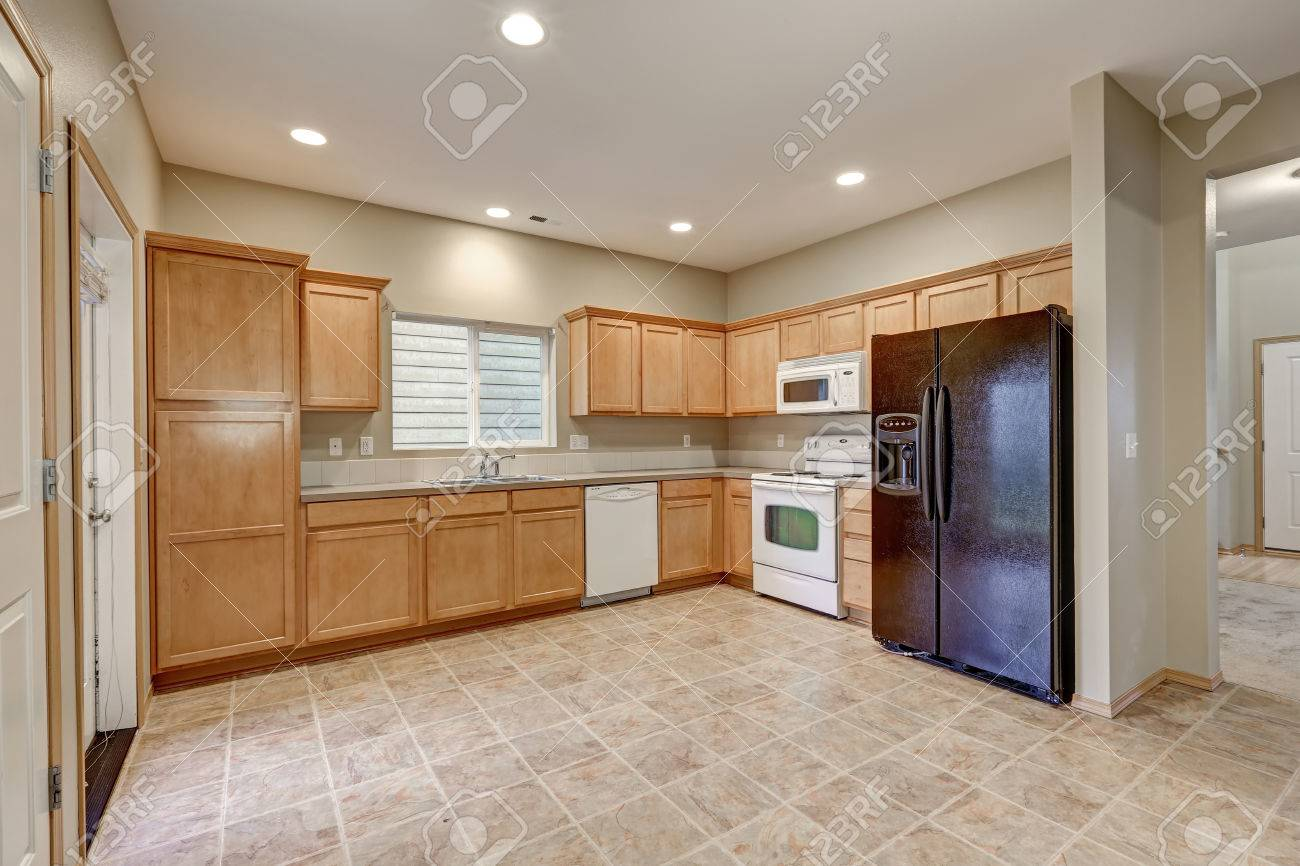 Light And Airy Kitchen Room With Freshly Painted Walls In Beige Stock Photo Picture And Royalty Free Image Image 72105381