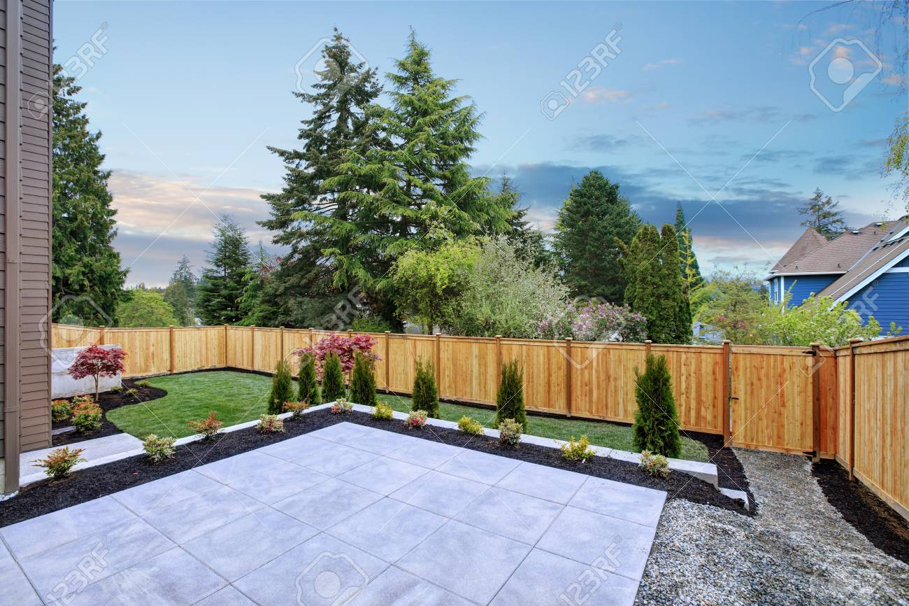 Luxury New Construction Home With Beautiful Backyard Landscape Stock Photo Picture And Royalty Free Image Image 89363031