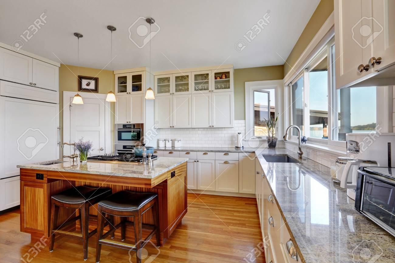 Amazing White Kitchen With Pure White Kitchen Cabinets Kitchen