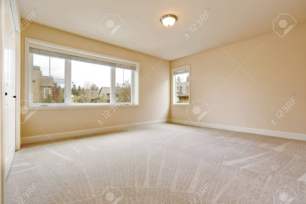 Light Empty Bedroom Interior With Soft Sand Beige Walls Paint Stock Photo Picture And Royalty Free Image Image 94041022