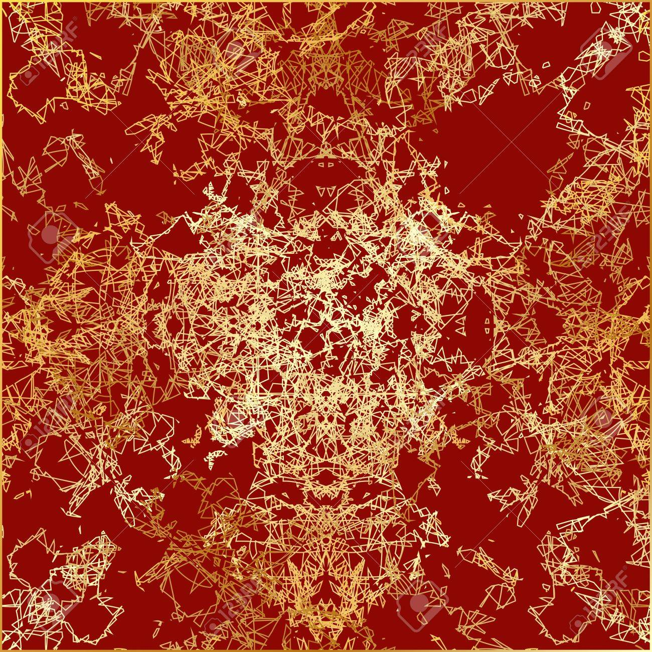 texture gold thread on a red background Stock Vector - 16057024