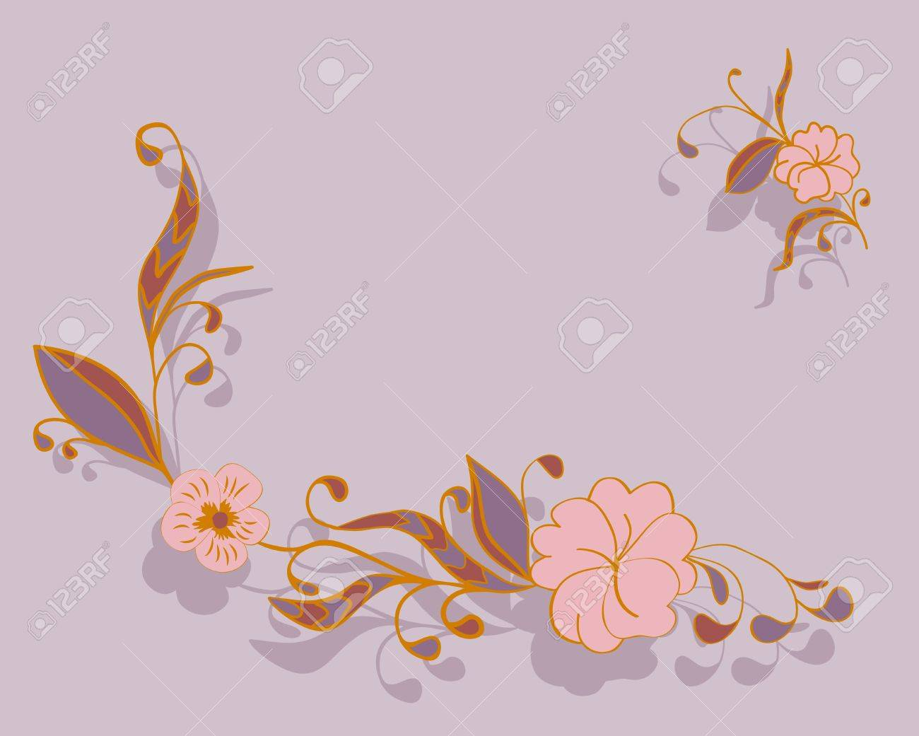 corner delicate floral background Stock Vector - 16464461