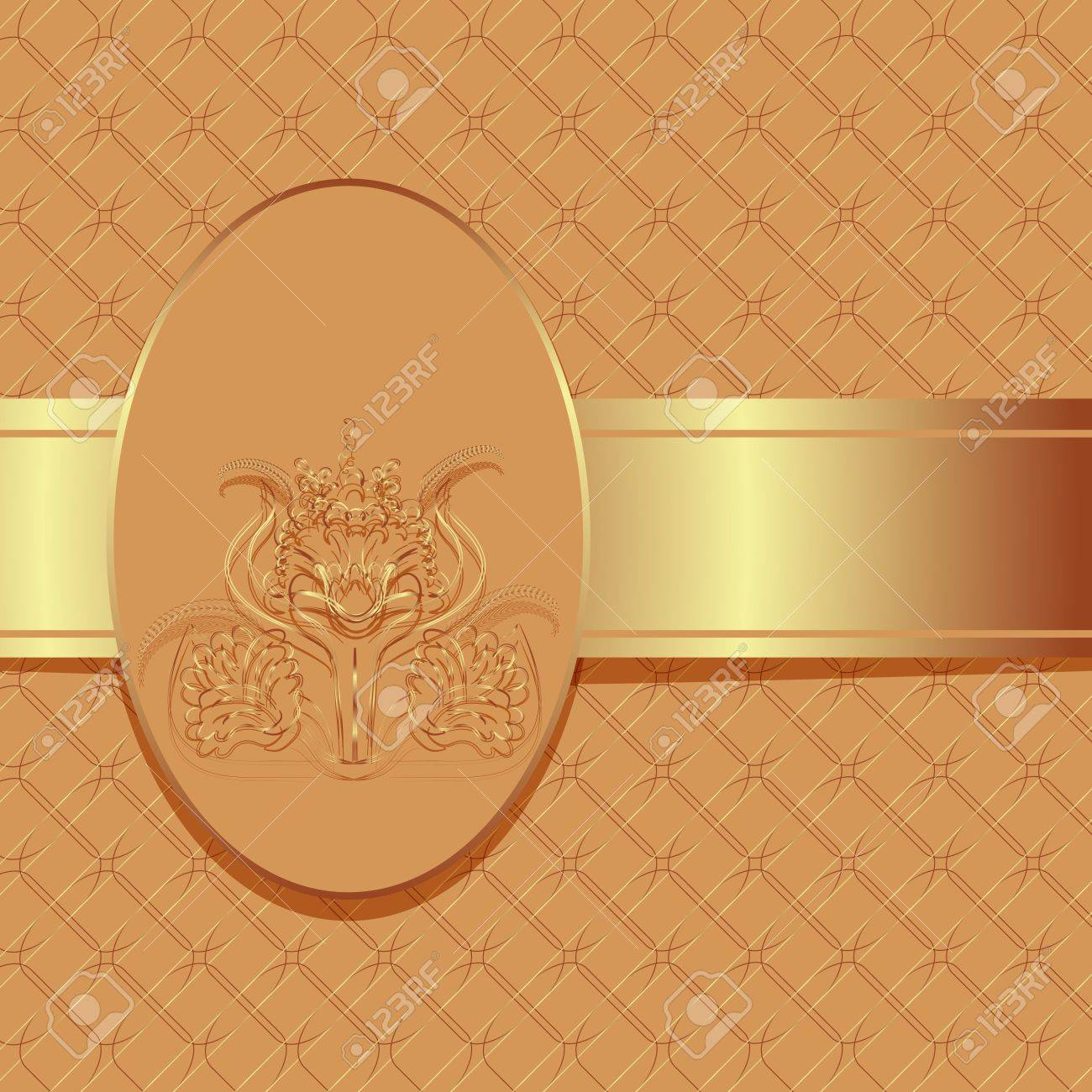 Luxury floral golden book cover Stock Vector - 17585347