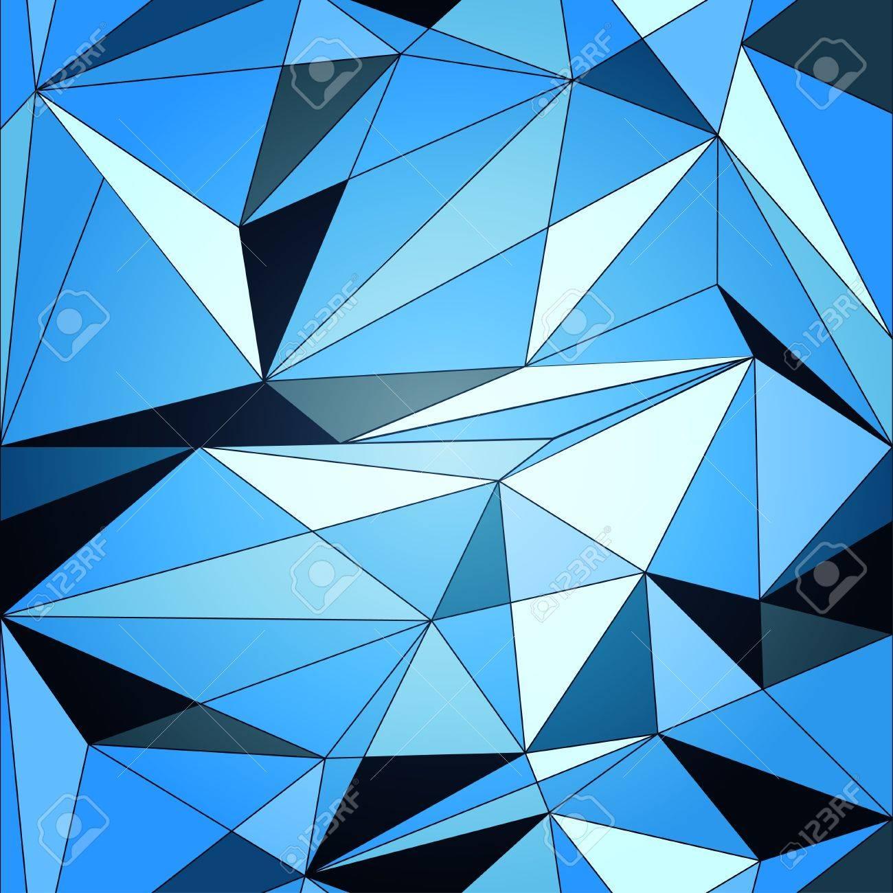 Vector blue diamond geometric background Stock Vector - 18629773