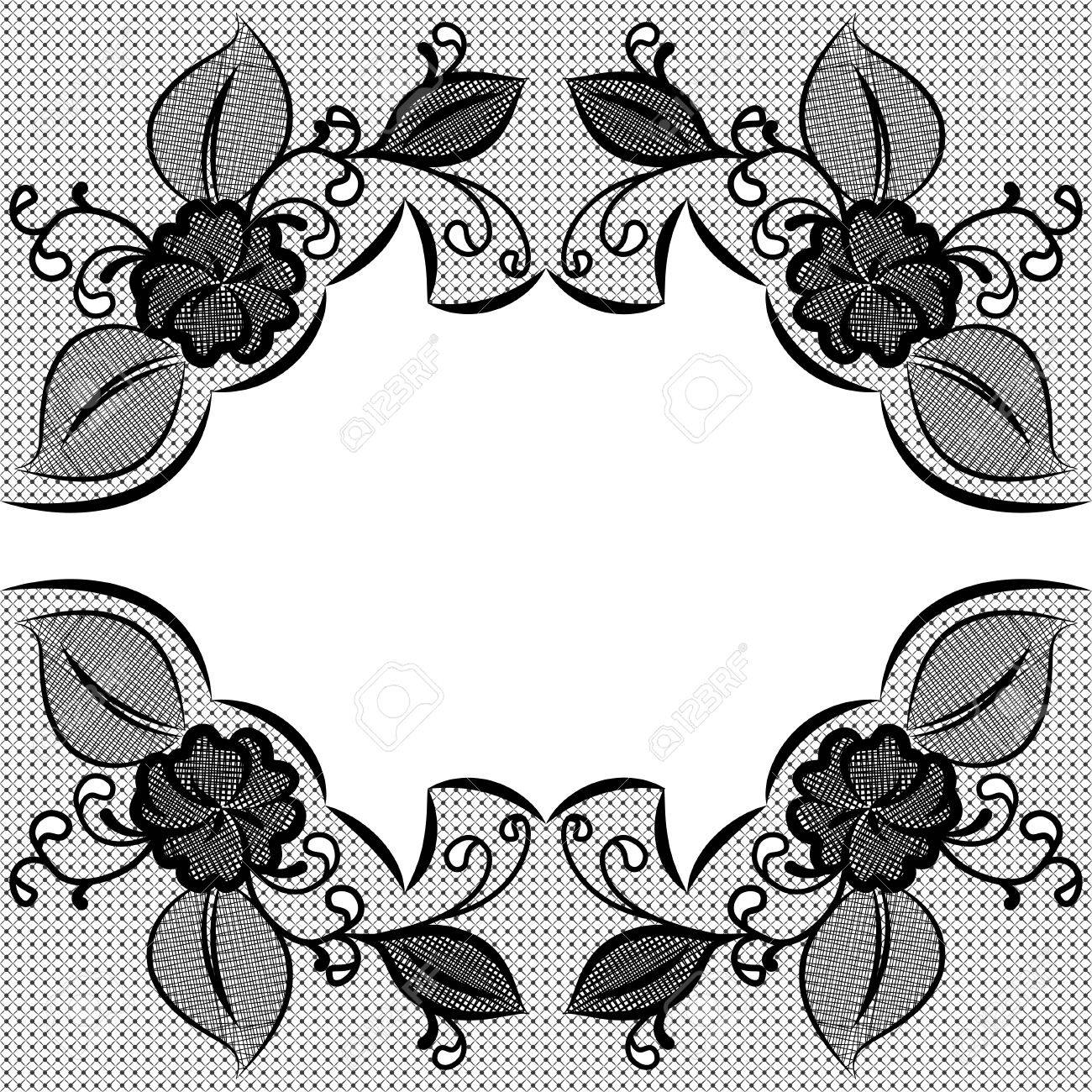 lace black and white background with space for text can be used rh 123rf com vector lace pattern free cute lace pattern vector free