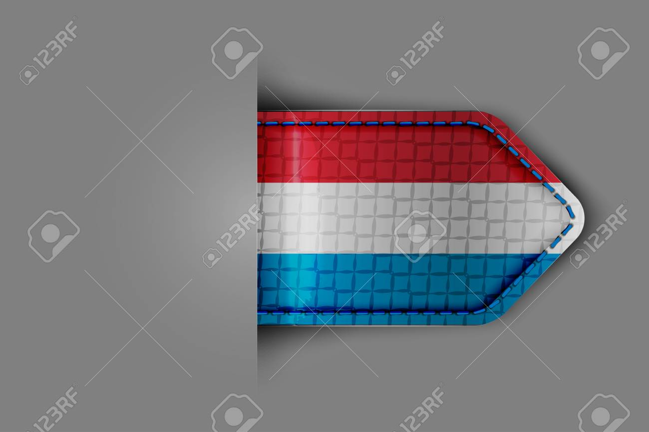Flag of Luxembourg in the form of a glossy textured label or bookmark  Vector illustration Stock Vector - 23541109