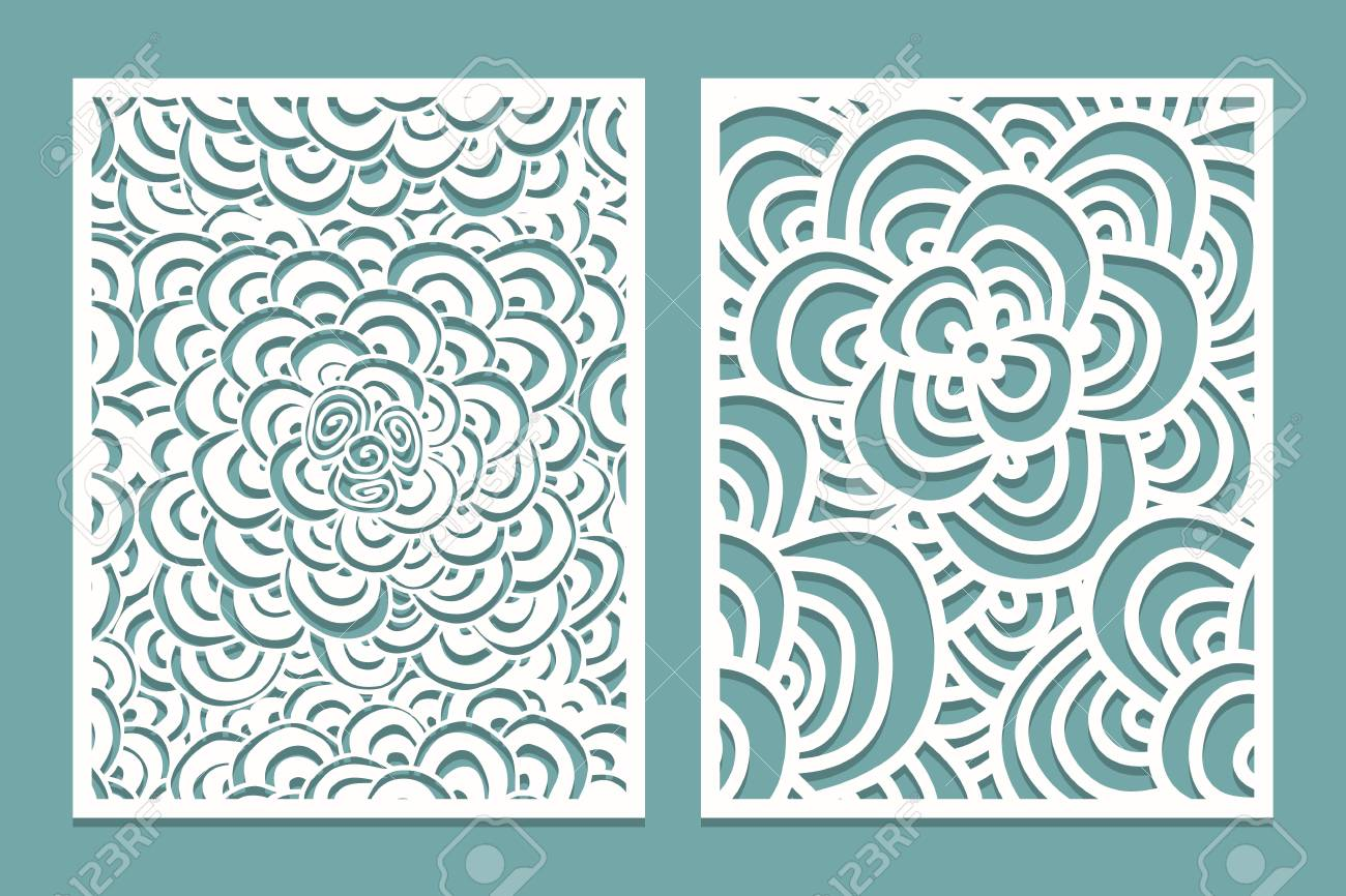 Set Of Laser Cut Pattern Panel Templates. Wood Or Paper Screen ...
