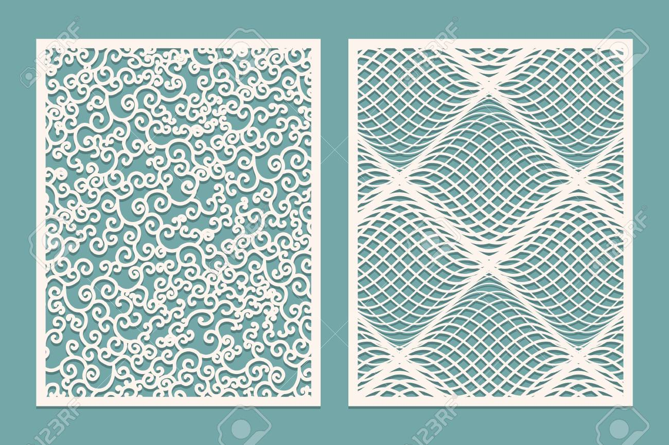 Set Of Laser Cut Panels Template Patterns For Decorative Panels