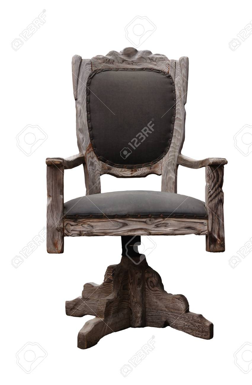 Image D\'une Chaise De Bureau Classique Isolée Sur Fond Blanc Banque ...
