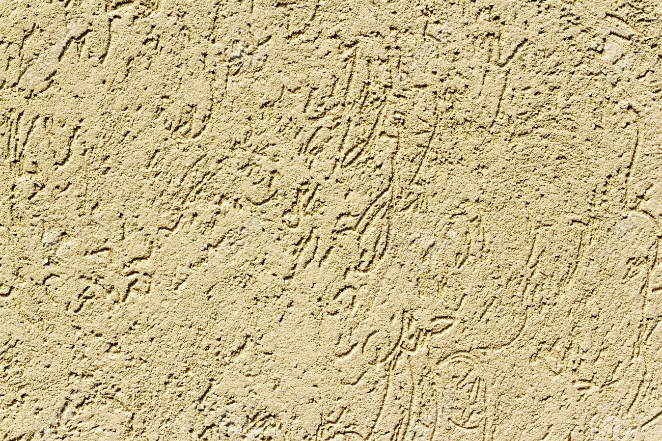 Sand Colored Stucco. Finish Exterior Or Interior Walls. Stock Photo    21722512 Part 56