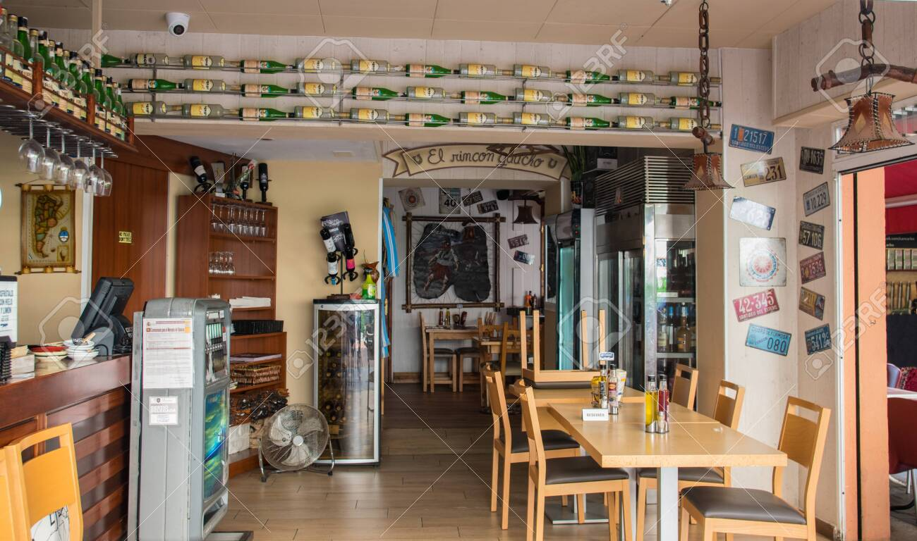 Interior Of Cafe Or Restaurant With Kitchen And Bar Modern Design Stock Photo Picture And Royalty Free Image Image 136409479