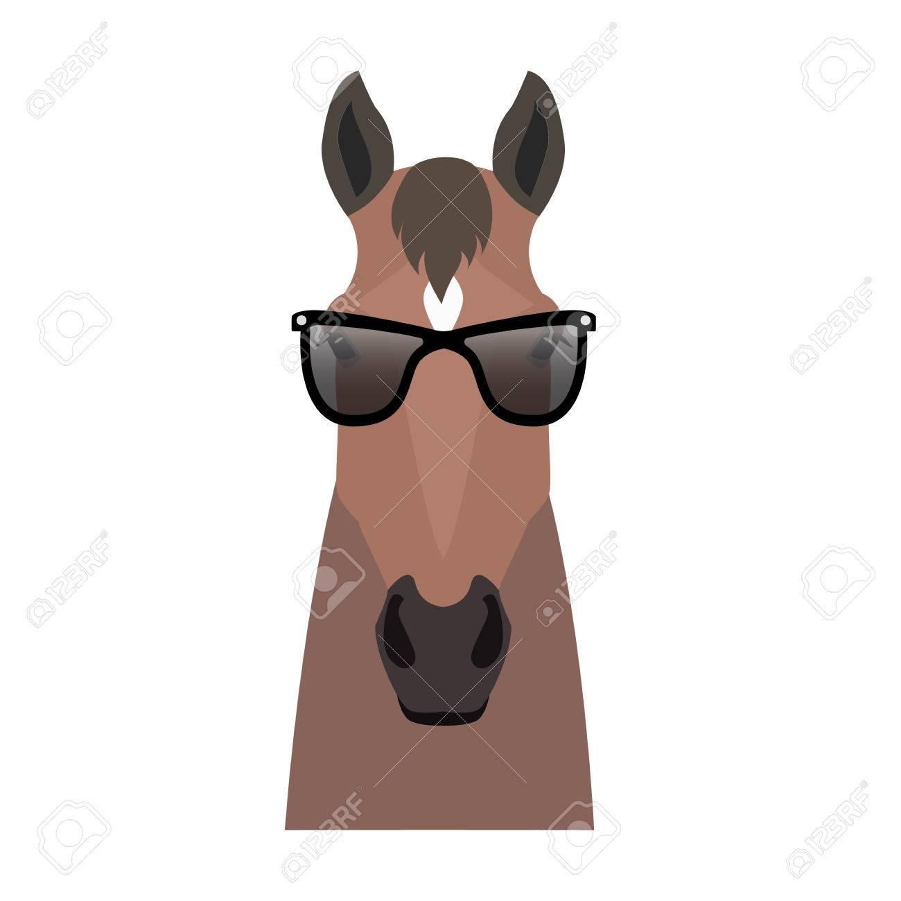 204ee0808059a0 Vector Flat Horse Horse Head Geïsoleerd. Bay