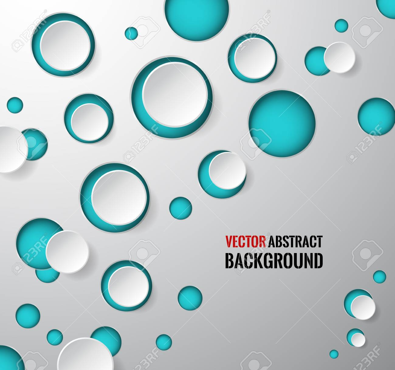 Vector Abstract Background Circle Round Colored Bubbles Wallpaper