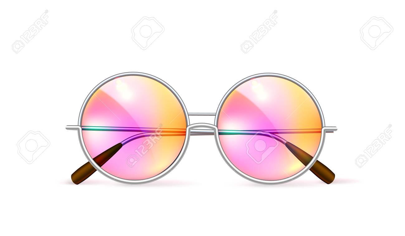 4928404043038 Vector - Vector realistic retro circle eyeglasses
