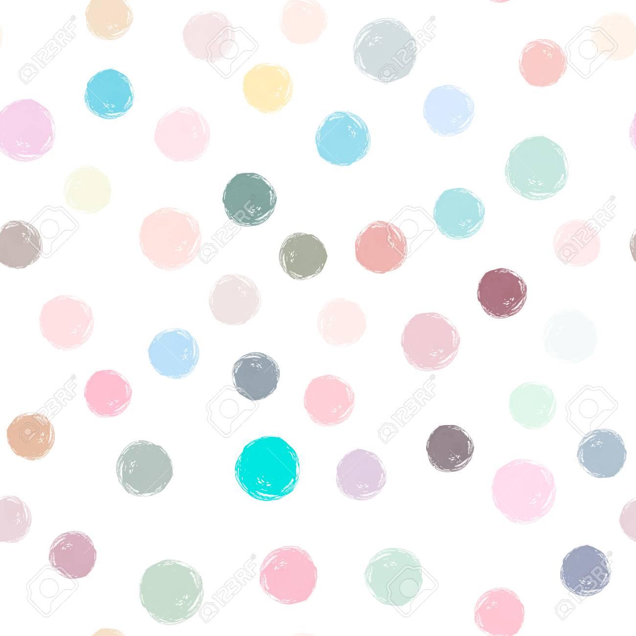 A Vector Watercolor Circles Seamless Pattern Pastel Watercolor Royalty Free Cliparts Vectors And Stock Illustration Image 90226264