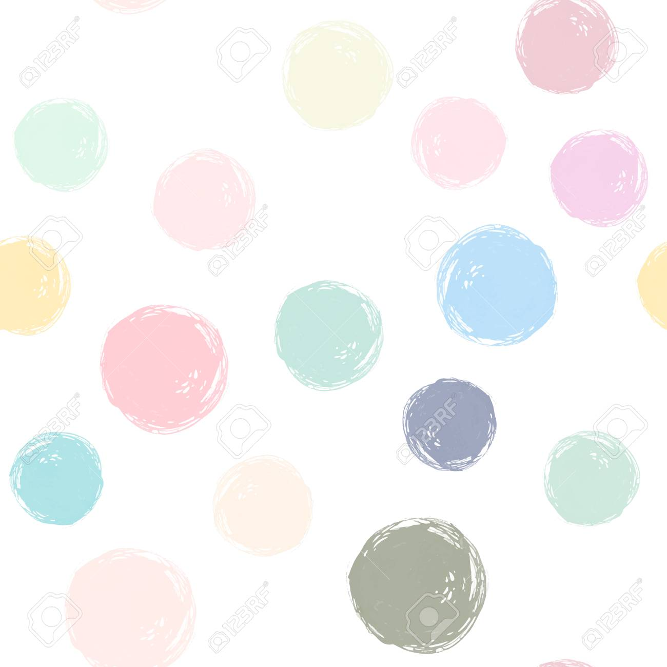 A Vector Watercolor Circles Seamless Pattern Pastel Watercolor Royalty Free Cliparts Vectors And Stock Illustration Image 90226266