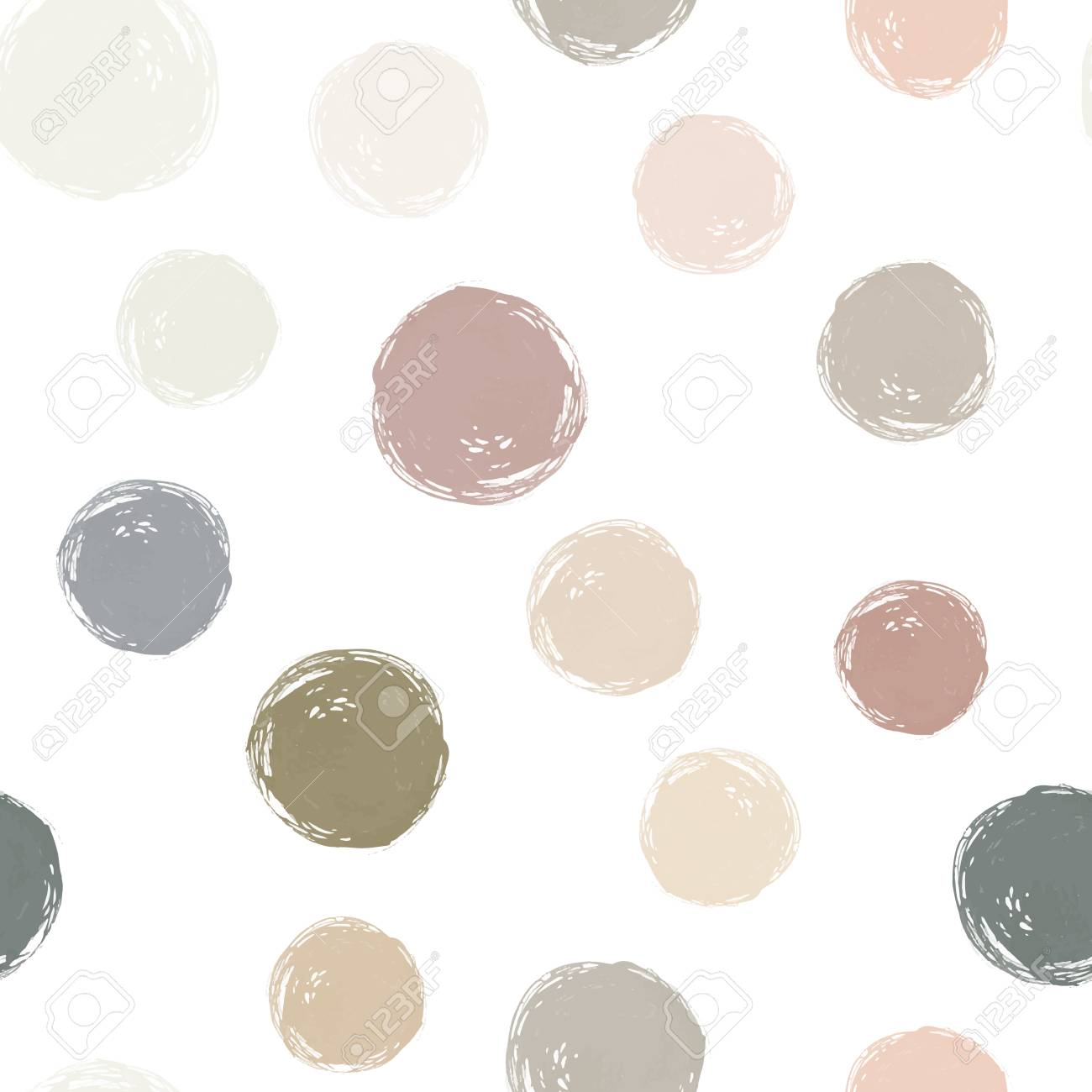 90226299 a vector watercolor circles seamless pattern neutral watercolor colors it can be used as wallpaper d