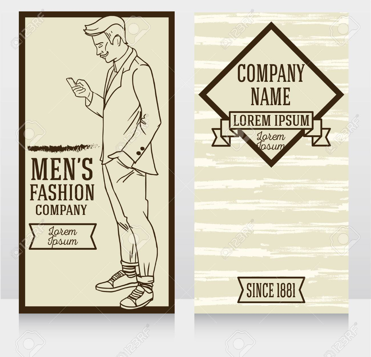 Advertising Banner In Retro American Style, Trendy Hipster, Can ...