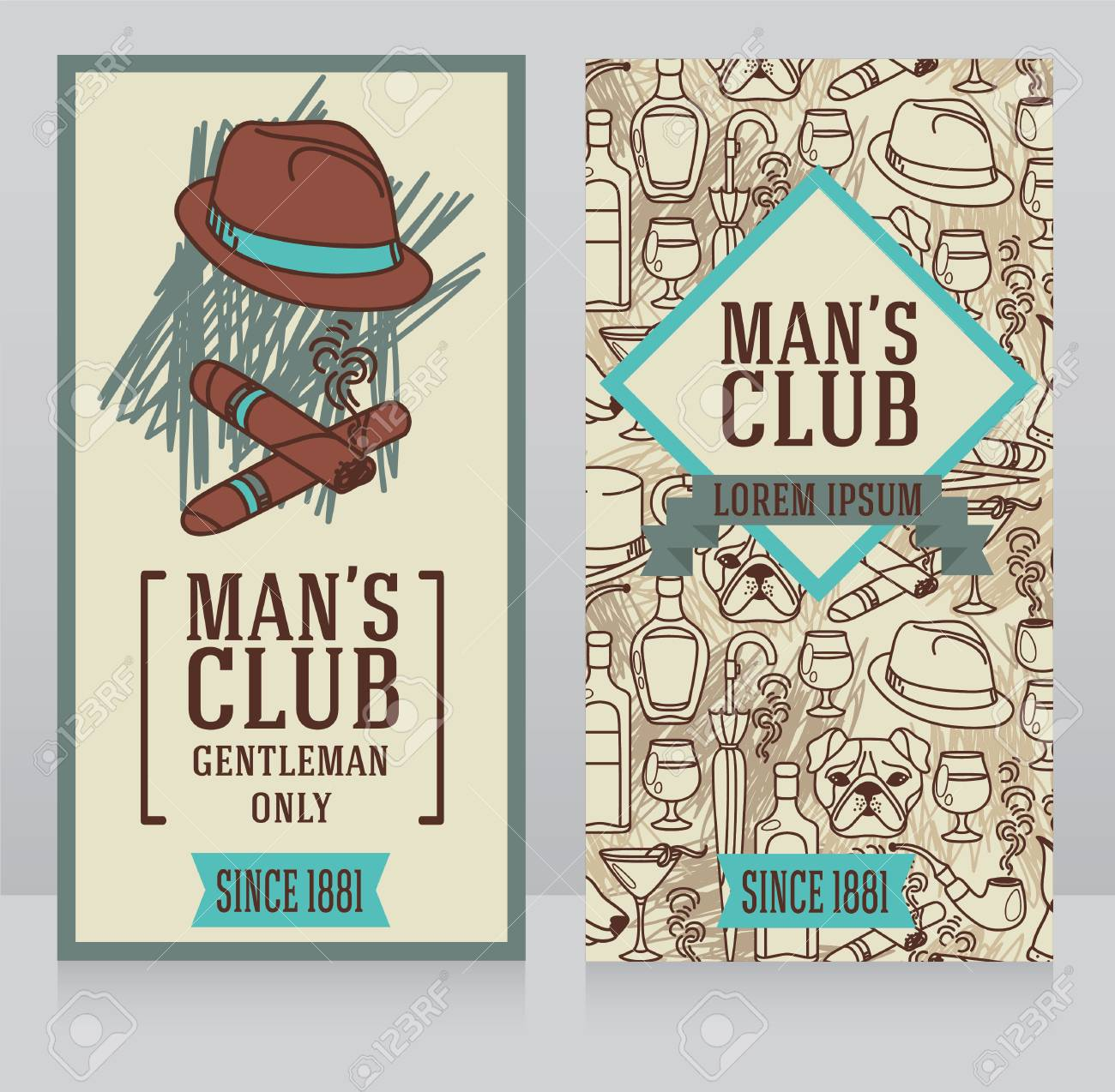 Two business cards for gentlemen club can be used as party two business cards for gentlemen club can be used as party invitations vector illustrations colourmoves