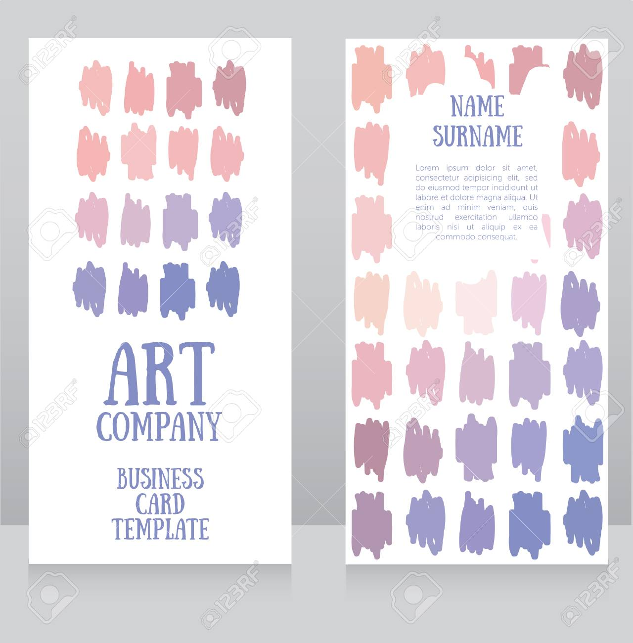Banners template with colorful strokes front and back sides banners template with colorful strokes front and back sides can be used as business reheart Images