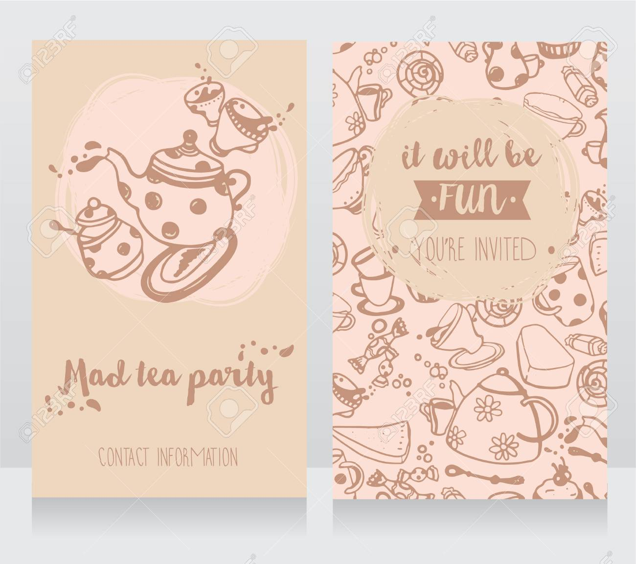 Invitation Card For Tea Party Or Cute Business Cards For Tea