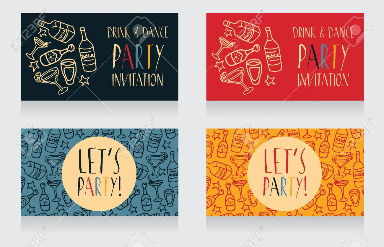 Festlegen Von Party Einladungsvorlagen, Können Als Geburtstagsfeier ...