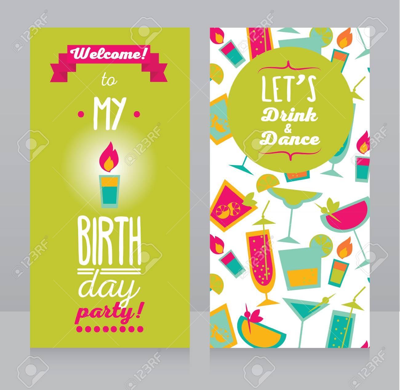 Invitation for birthday party can be used as flyer for bar party invitation for birthday party can be used as flyer for bar party vector illustration stopboris Images