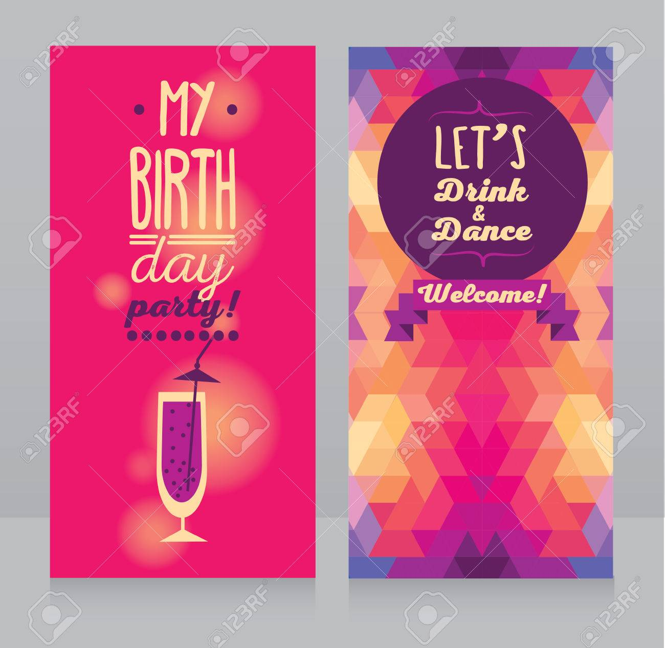 Invitation For Birthday Party Can Be Used As Flyer For Bar Party