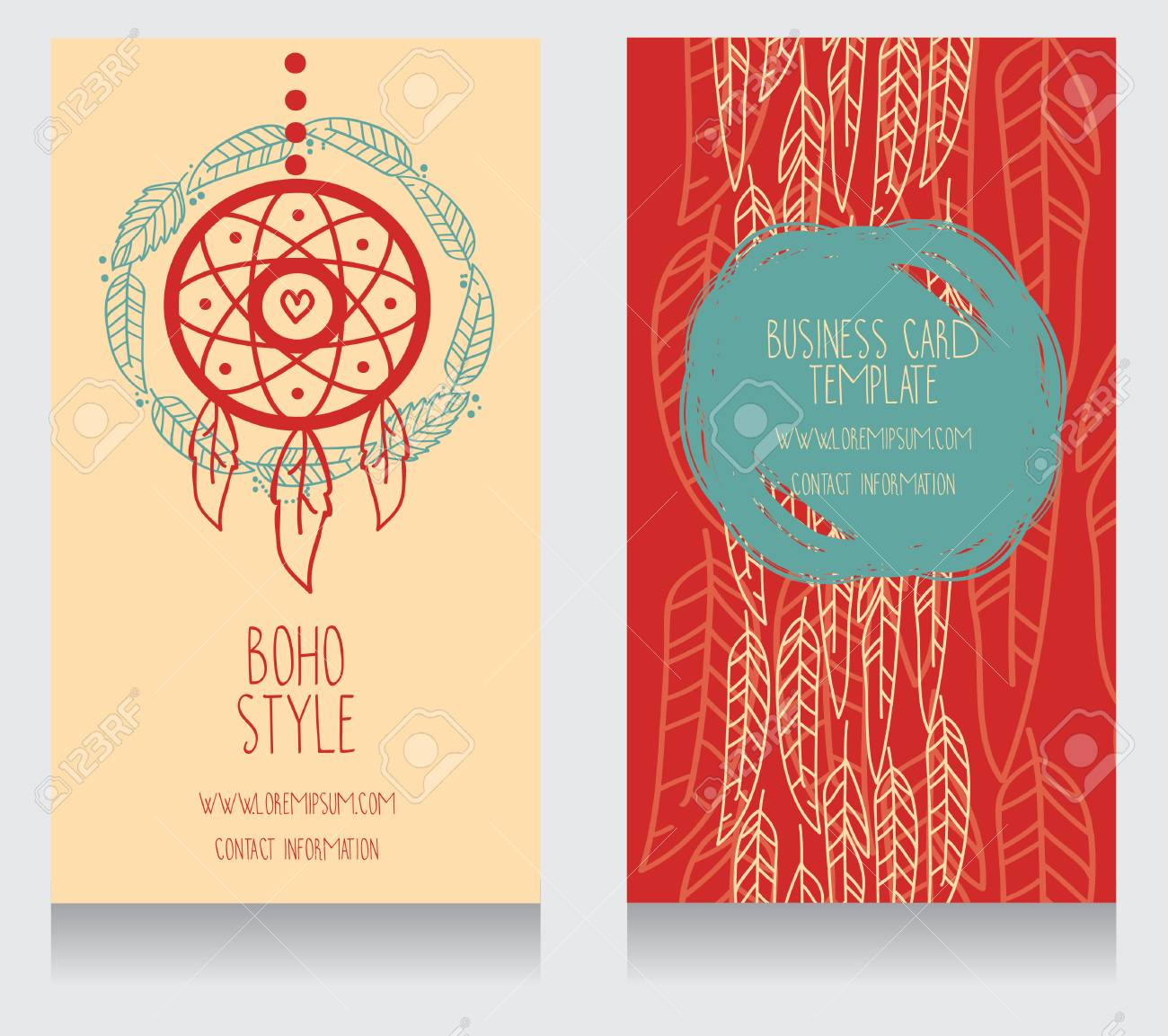 Two Cards For Boho Style, Can Be Used Us Party Invitation Or ...