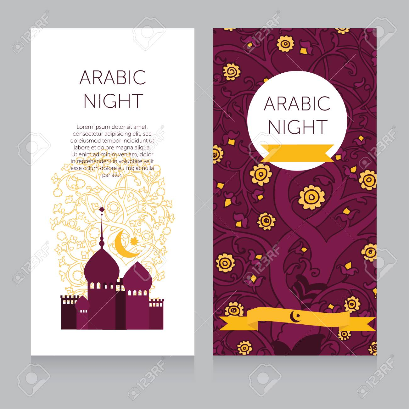 Beautiful Invitation Template For Arabian Night Party Or Template