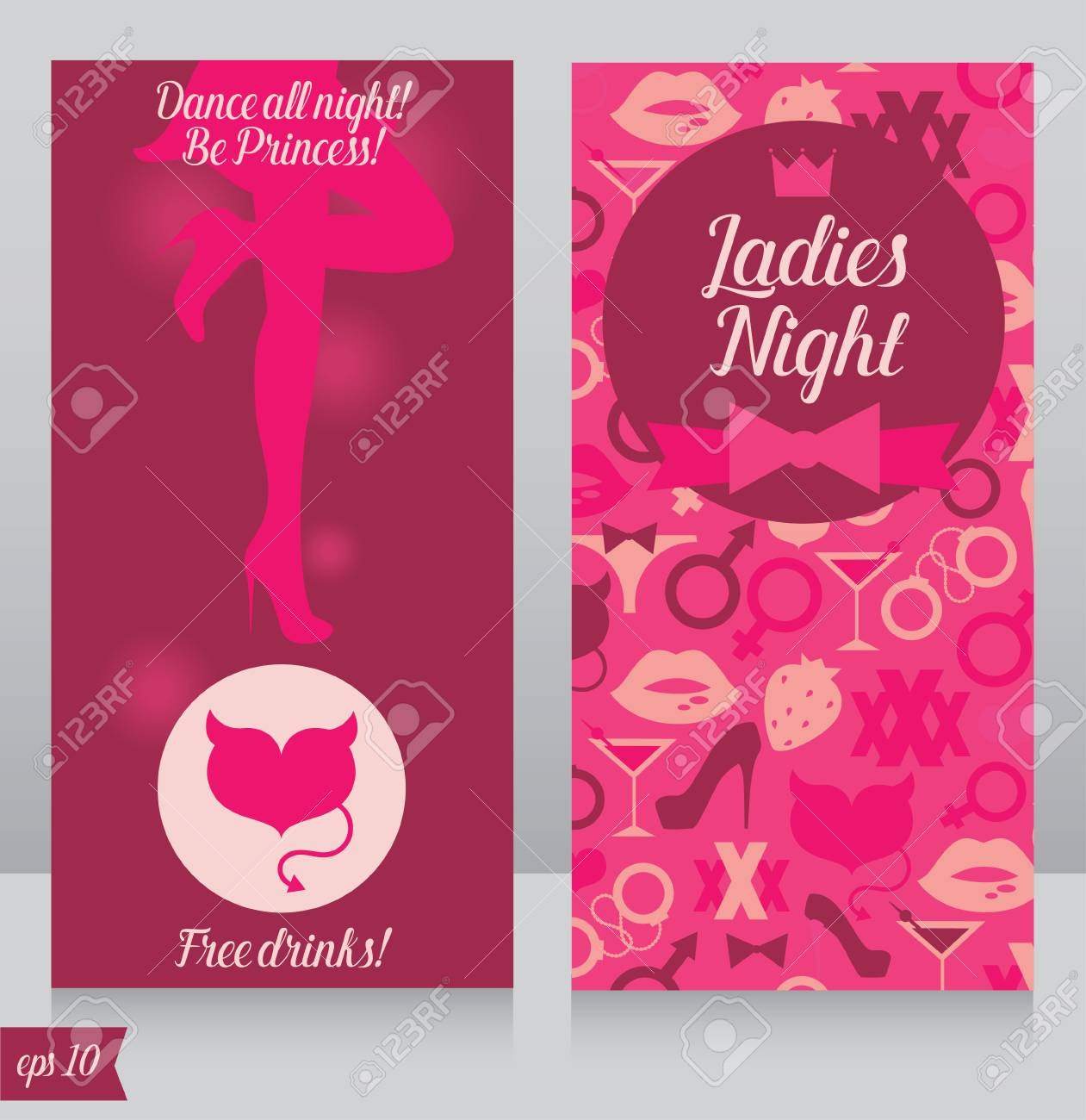 Template For Ladies Night Party Invitation Cards For Night Club