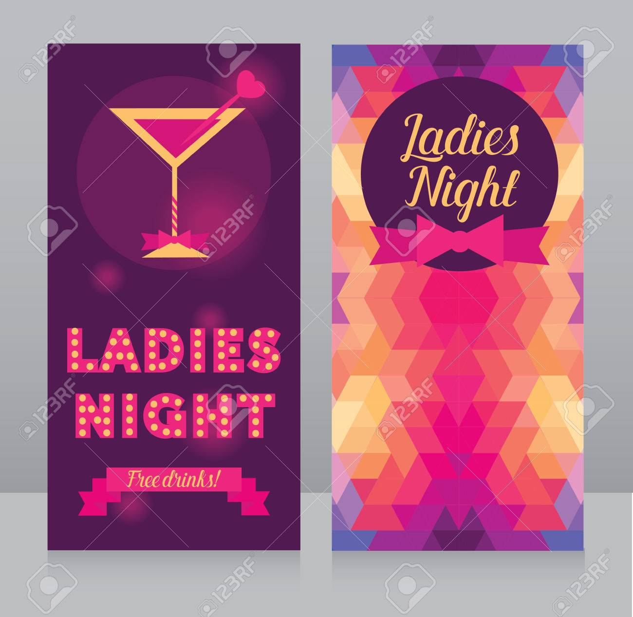 template for ladies night party flyer bachelorette party invitation
