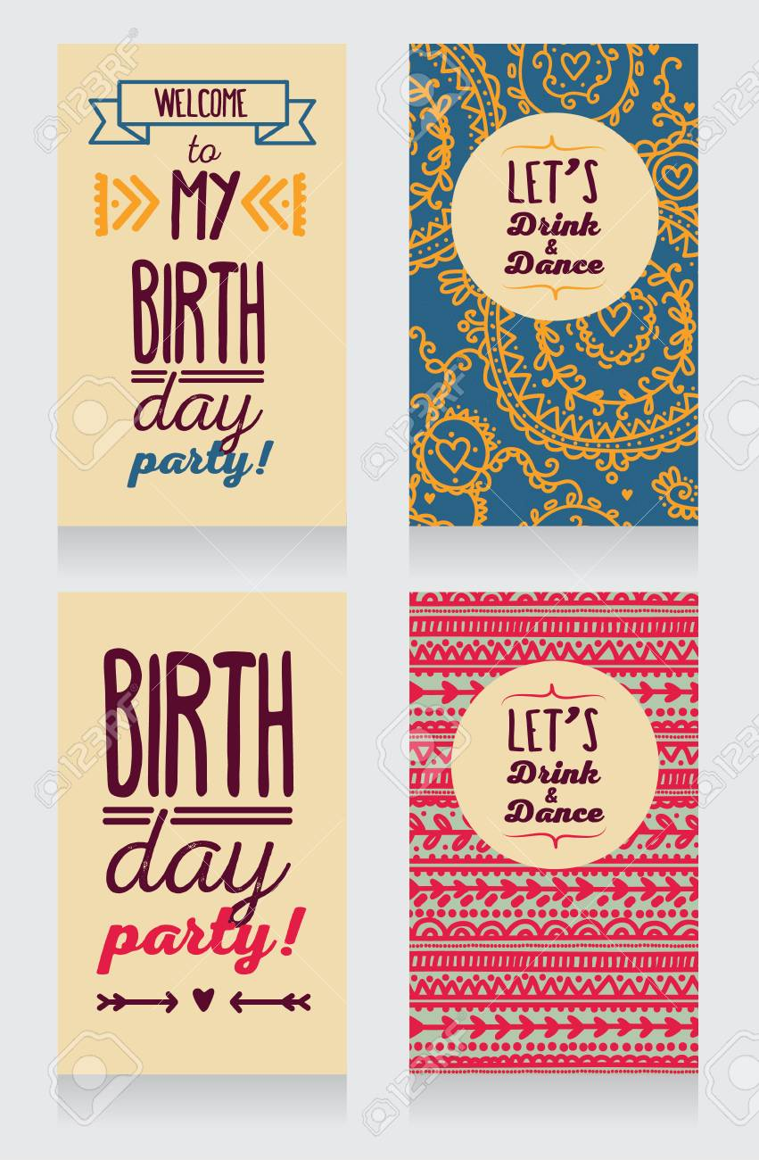 Birthday card invitation template royalty free cliparts vectors birthday card invitation template stock vector 84007508 stopboris Choice Image