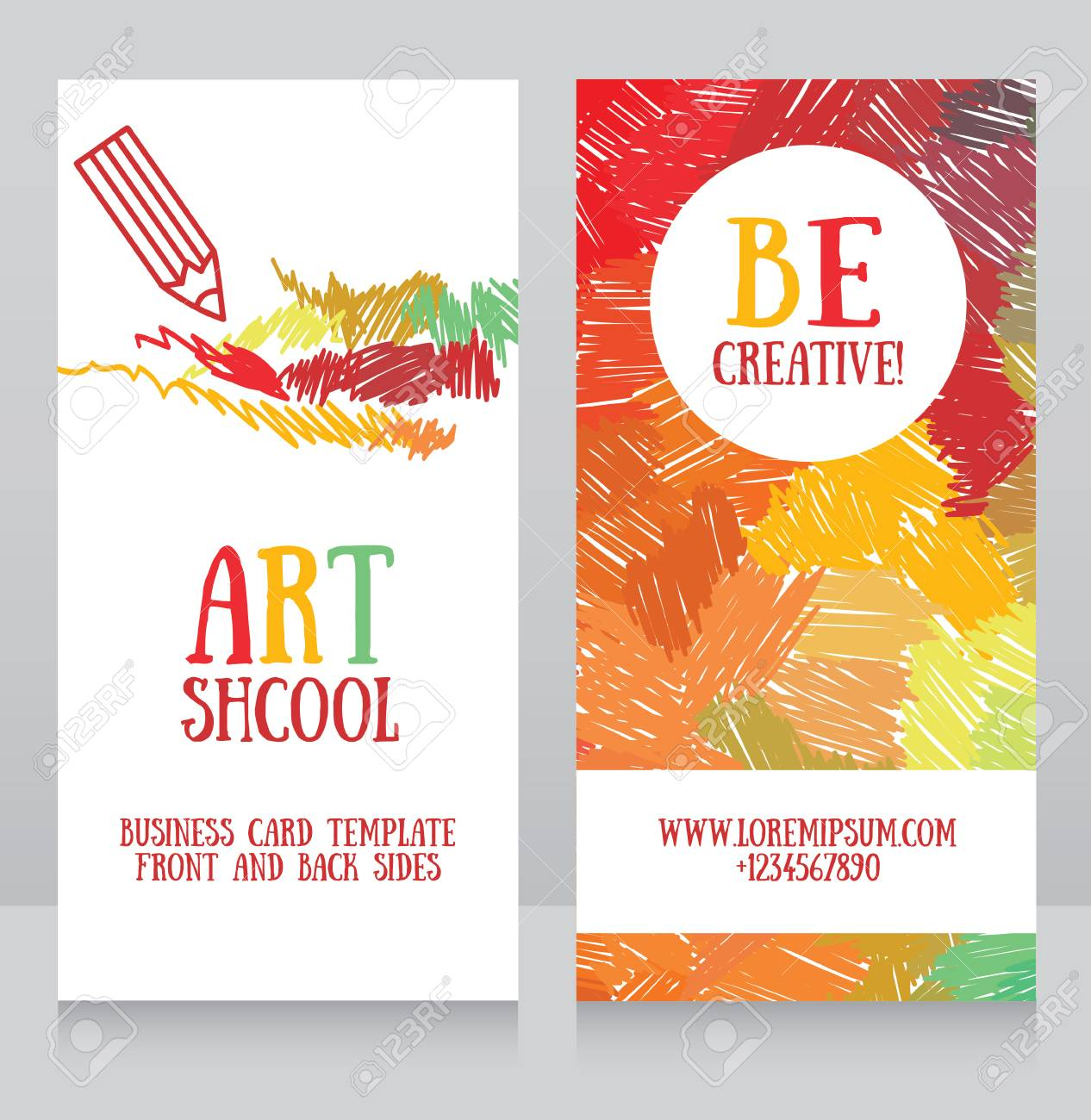 Business Cards Template For Art School Can Be Used For Art Therapy