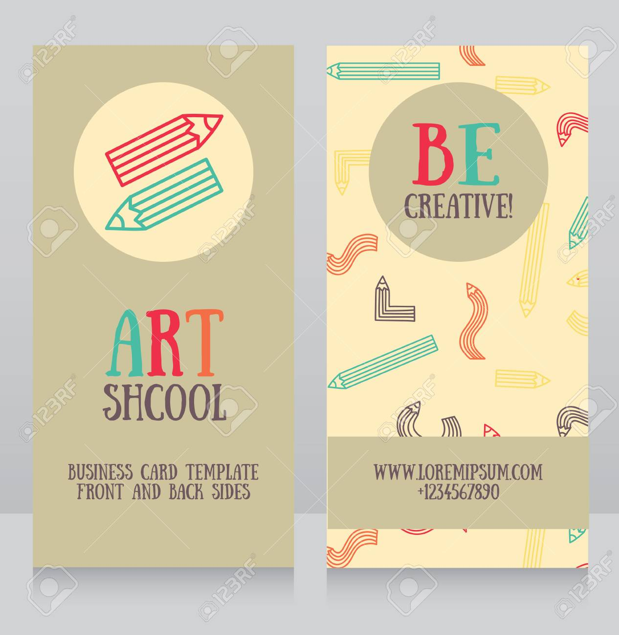 Business Cards Templates For Art School, Can Be Used For Art ...
