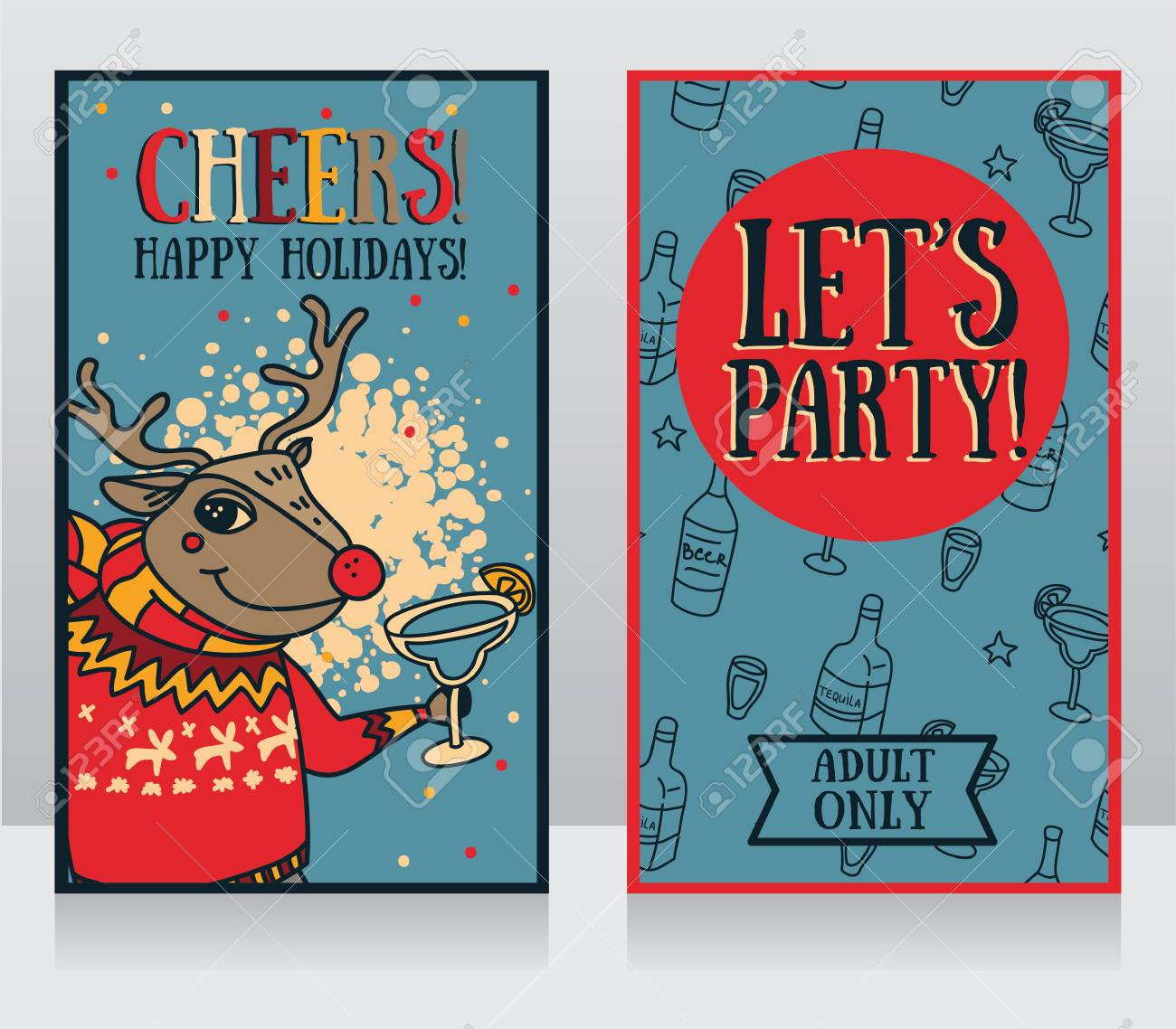 Templates For Christmas Party Invitations Card Royalty Free